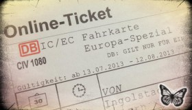 Bahnticket 2013