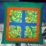 Patchwork Turtles-Kissen