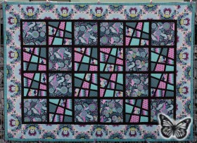 Magic Tiles Zwillings-Quilt 07