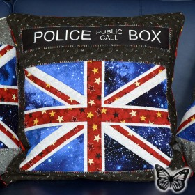Union Jack Kissen Logo - Paper Piecing